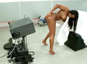 Fucking machine penetrates black woman's tight pussy - XXXonXXX - Pic 13