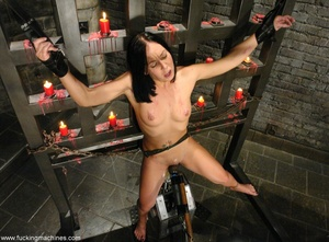Tied up lady gets brutally assfucked by mechanized dildos - XXXonXXX - Pic 12