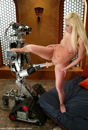 Huge dildos strapped on machines give blonde a nice fuck - XXXonXXX - Pic 10
