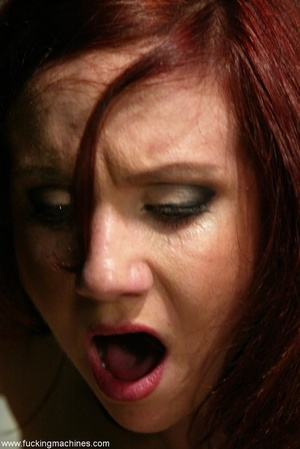 Redhead has some fun with fucking machines in the toilet - XXXonXXX - Pic 9