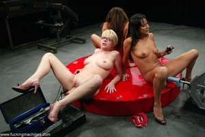 Three ladies get pussy and assfucked by machine dildos - XXXonXXX - Pic 5