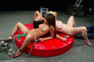 Three ladies get pussy and assfucked by machine dildos - XXXonXXX - Pic 6