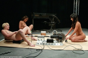 Three ladies get pussy and assfucked by machine dildos - XXXonXXX - Pic 9