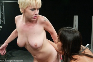 Three ladies get pussy and assfucked by machine dildos - XXXonXXX - Pic 12