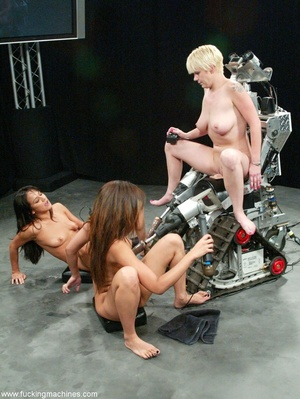 Three ladies get pussy and assfucked by machine dildos - XXXonXXX - Pic 17