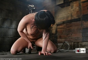 Brunette fucked by two sex machines to double the pleasure - XXXonXXX - Pic 12