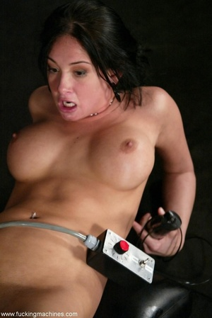 Brunette fucked by two sex machines to double the pleasure - XXXonXXX - Pic 18