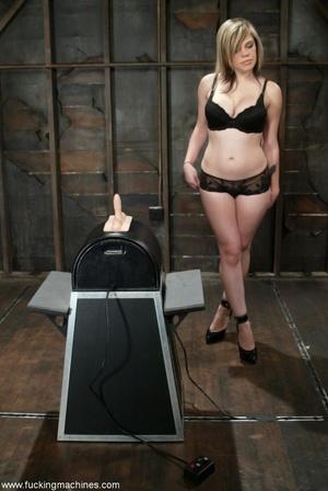 Busty girl with hairy twat rides on top of sybian machine - XXXonXXX - Pic 1