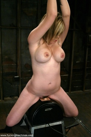 Busty girl with hairy twat rides on top of sybian machine - XXXonXXX - Pic 4