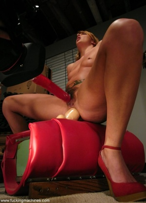 Young slut double-penetrated by huge mechanized dildos - XXXonXXX - Pic 4