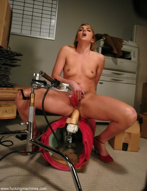 Young slut double-penetrated by huge mechanized dildos - XXXonXXX - Pic 5