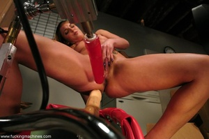 Young slut double-penetrated by huge mechanized dildos - XXXonXXX - Pic 6