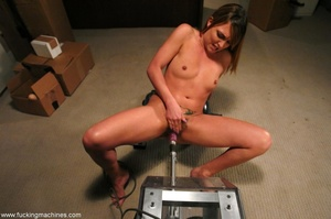 Young slut double-penetrated by huge mechanized dildos - XXXonXXX - Pic 10