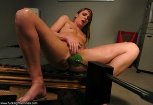 Young slut double-penetrated by huge mechanized dildos - XXXonXXX - Pic 18