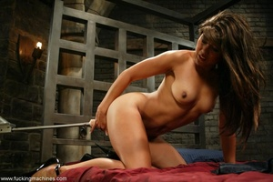 Lady has an incredible orgasm on top of sybian machine - XXXonXXX - Pic 11