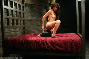 Lady has an incredible orgasm on top of sybian machine - XXXonXXX - Pic 16