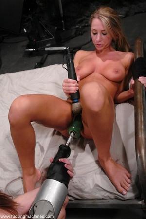 Horny lesbians stimulate their cunts with mechanized dildo - XXXonXXX - Pic 6