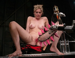 Dirty-minded blonde uses sex machines to get a hot orgasm - XXXonXXX - Pic 2