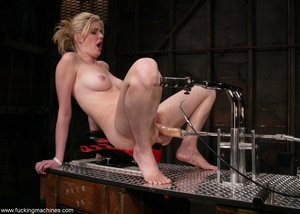 Dirty-minded blonde uses sex machines to get a hot orgasm - XXXonXXX - Pic 5