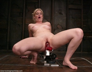 Dirty-minded blonde uses sex machines to get a hot orgasm - XXXonXXX - Pic 7