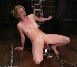 Dirty-minded blonde uses sex machines to get a hot orgasm - XXXonXXX - Pic 9