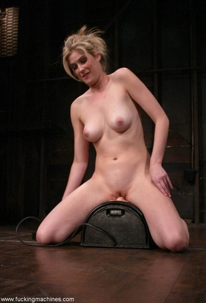 Dirty-minded blonde uses sex machines to get a hot orgasm - XXXonXXX - Pic 13