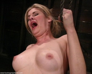 Dirty-minded blonde uses sex machines to get a hot orgasm - XXXonXXX - Pic 14