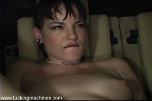 Babe gets fucked by a special machine on the backseat - XXXonXXX - Pic 17