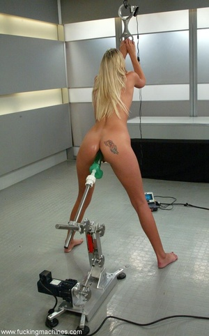 Machine penetrated hard pretty lady's ass and pussy - XXXonXXX - Pic 13