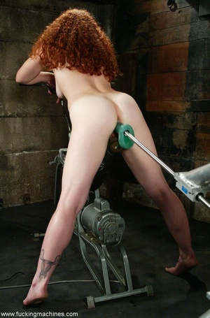 Redheaded babe with hot legs rides a fucking engine - XXXonXXX - Pic 10