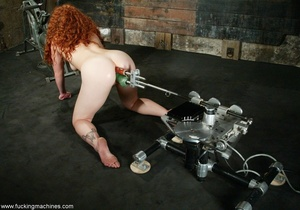 Redheaded babe with hot legs rides a fucking engine - XXXonXXX - Pic 13