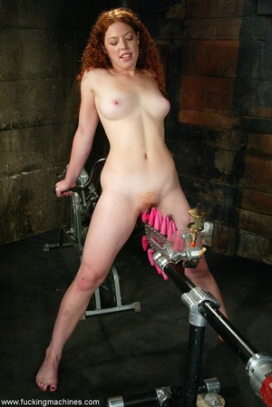 Redheaded babe with hot legs rides a fucking engine - XXXonXXX - Pic 16