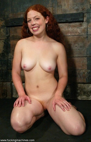 Redheaded babe with hot legs rides a fucking engine - XXXonXXX - Pic 18