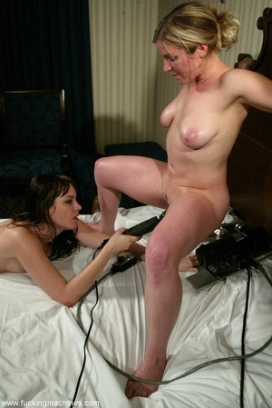 Horny lesbians getting penetrated by a fucking machine - XXXonXXX - Pic 16