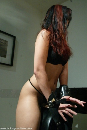 Nasty MILF gets tied to bed and fucked by a machine - XXXonXXX - Pic 3