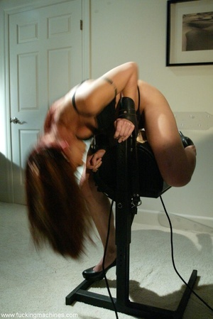 Nasty MILF gets tied to bed and fucked by a machine - XXXonXXX - Pic 5