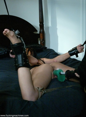 Nasty MILF gets tied to bed and fucked by a machine - XXXonXXX - Pic 8