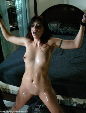 Nasty MILF gets tied to bed and fucked by a machine - XXXonXXX - Pic 17