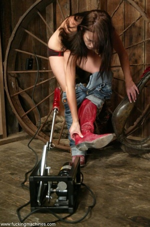 Doll gladly rides a fucking machine and squirts all over - XXXonXXX - Pic 3