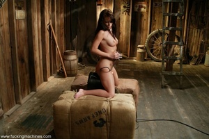 Doll gladly rides a fucking machine and squirts all over - XXXonXXX - Pic 16