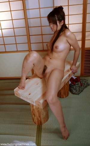 Sweet Asian girl enjoying her twat licking machine - XXXonXXX - Pic 16