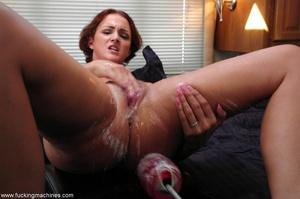 Fucking machine gets a naughty redhead bitch squirting - XXXonXXX - Pic 7