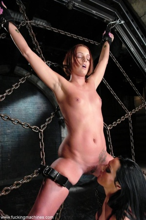 Lady tied to a body chain and tortured by a hot slut - XXXonXXX - Pic 3