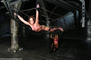 Lady tied to a body chain and tortured by a hot slut - XXXonXXX - Pic 4