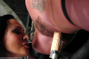 Lady tied to a body chain and tortured by a hot slut - XXXonXXX - Pic 5