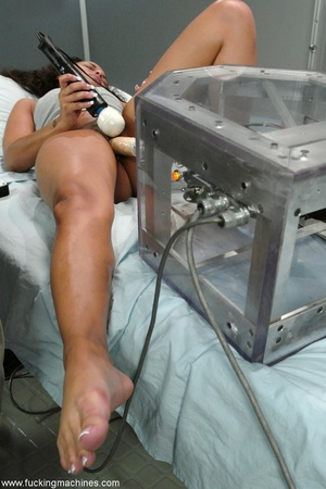 Hottie rides sybian machine until squirts like never before - XXXonXXX - Pic 6