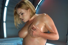 blonde, fucking machines, knockers, lady