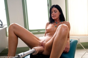 Dark haired babe with a trimmed cunt usi - XXX Dessert - Picture 10