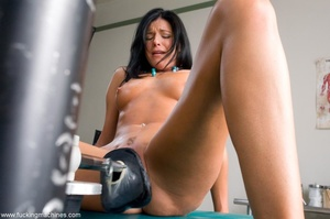 Dark haired babe with a trimmed cunt usi - XXX Dessert - Picture 14