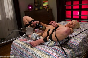 Tied up blonde slut gets used with many  - XXX Dessert - Picture 2